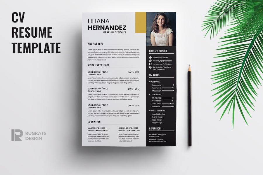 Minimalist CV  Resume R29 Template