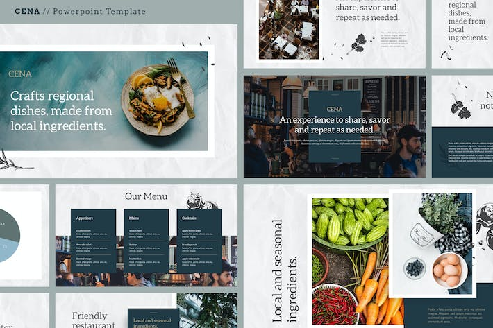 Thumbnail for CENA - Food & Culinary Powerpoint Template