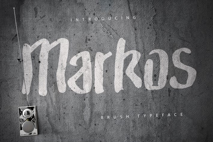 Thumbnail for Markos Brush Typeface