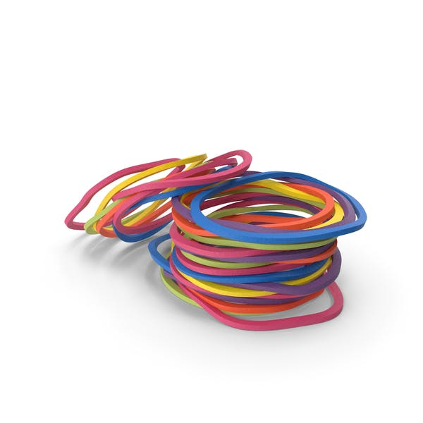 Pile of Colored Rubber Bands