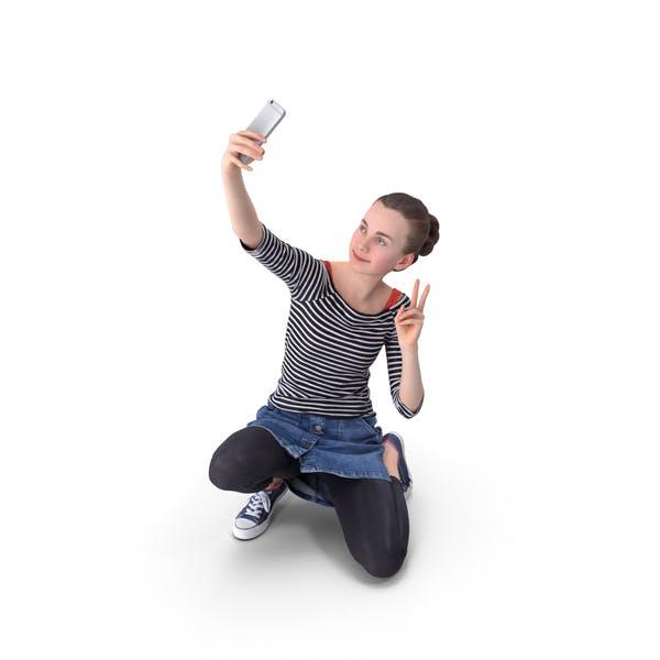 Woman Selfie Posed