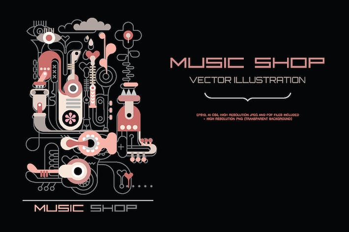 Thumbnail for Music Shop vector illustration