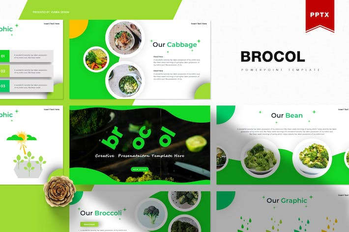 Thumbnail for Brocol | Powerpoint Template