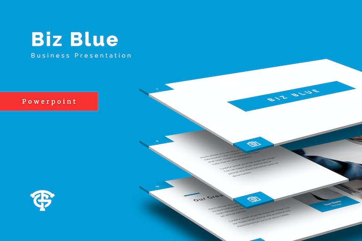 Cover Image For Biz Blue Business - Powerpoint
