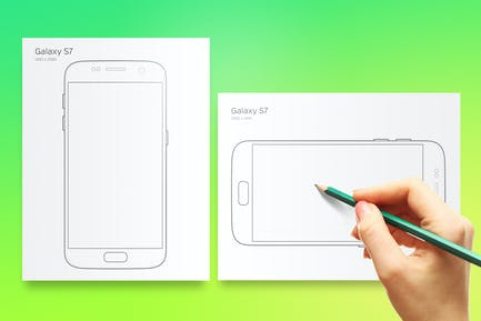 Printable Galaxy S7 Prototyping Sheet