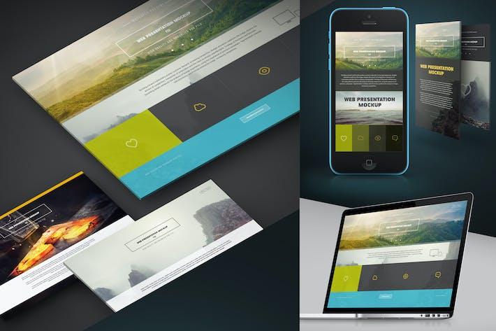 Thumbnail for Web Presentation Mock-Up (PSD)