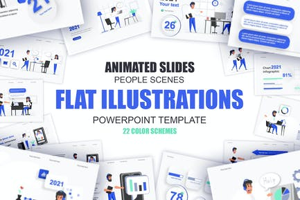 Management Flat Illustration Powerpoint Template