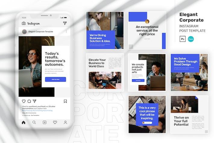 Thumbnail for Elegant Corporate Instagram Post Canva Template