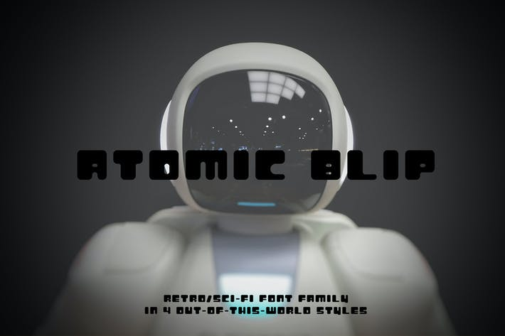 Thumbnail for Atomic Blip | A Retro Futuristic Font