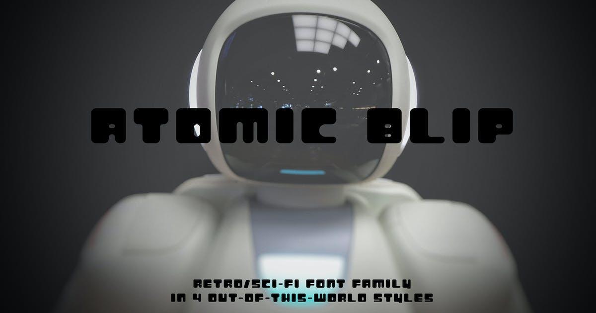 Atomic Blip | A Retro Futuristic Font by thinkmake