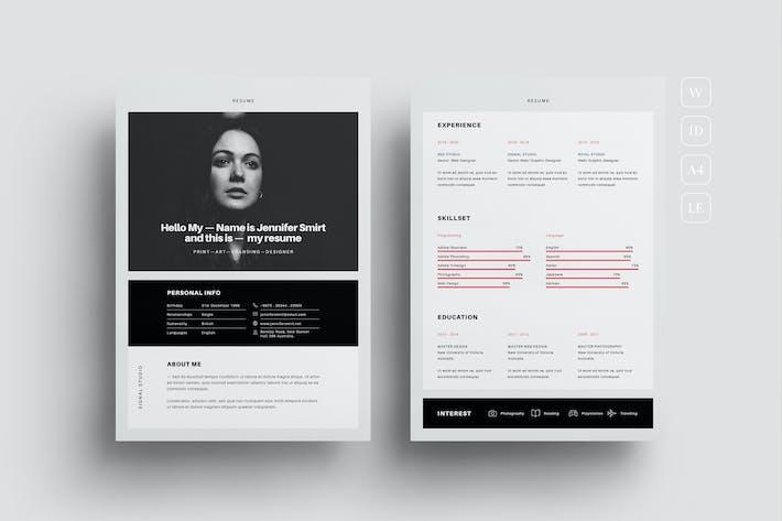 Thumbnail for Resume CV Template