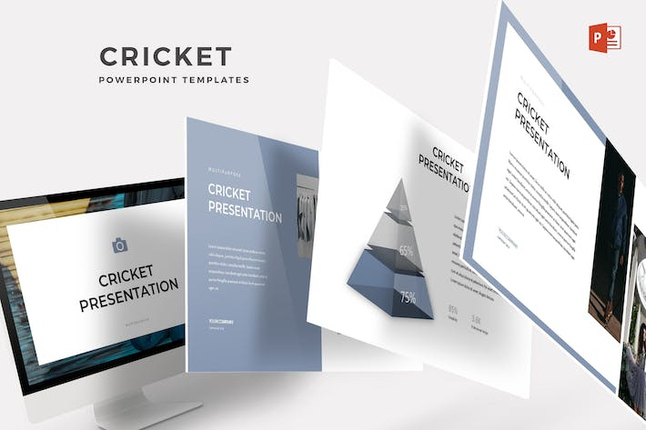 Cover Image For Cricket - Powerpoint Template