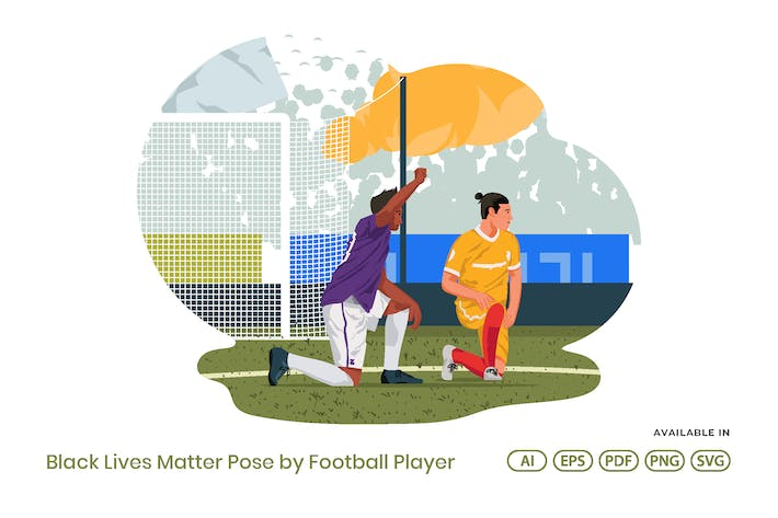 Thumbnail for Black Lives Matter Pose By Football Player