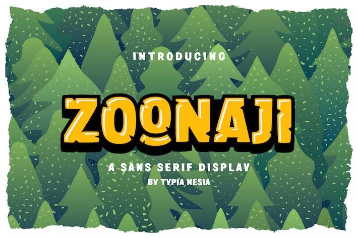 Zoonaji Sans Display