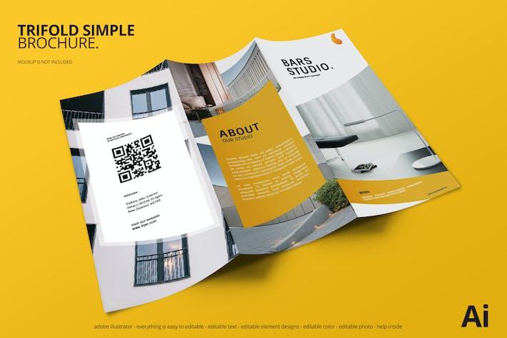 Thumbnail for Simple Tri-Fold Brochure
