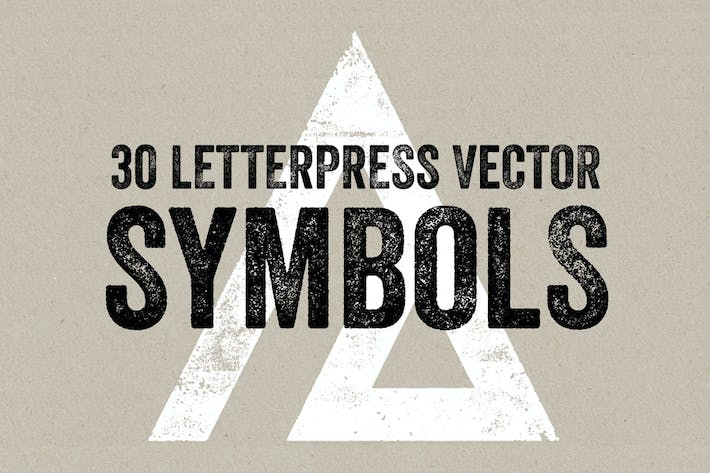 Cover Image For Letterpress Vector Symbols