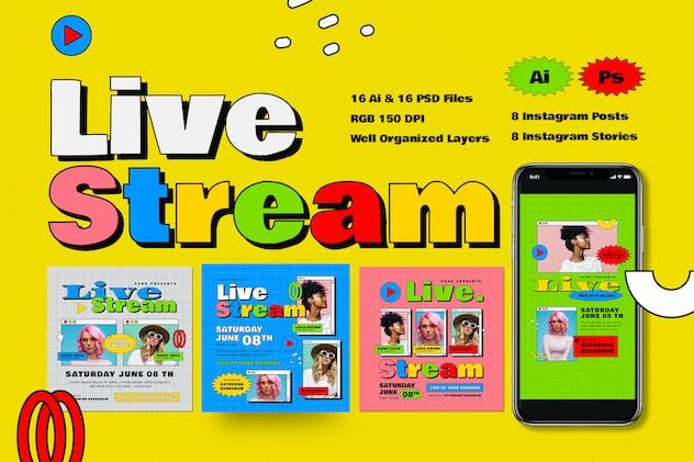 Live Stream Instagram Post & Story