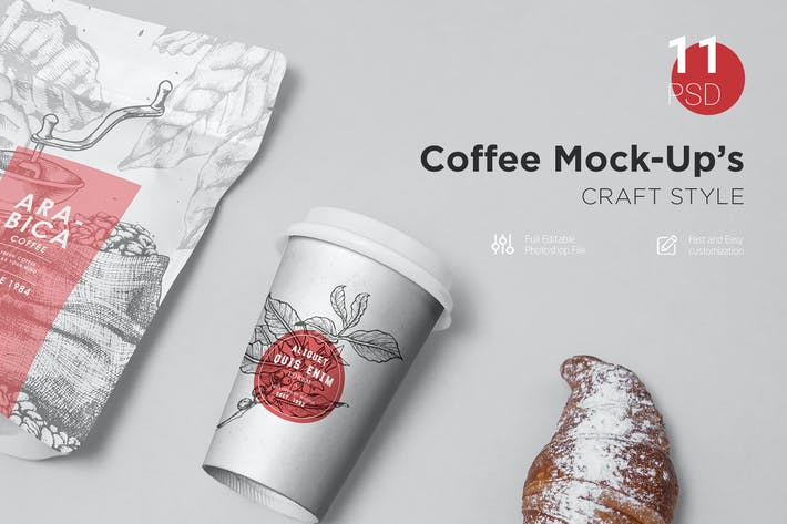 Thumbnail for Coffee Mock-Up's Craft Style