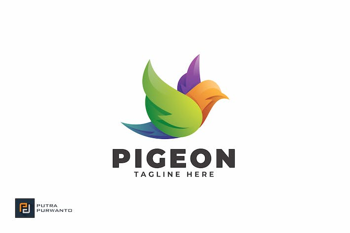 Cover Image For Pigeon - Logo Template
