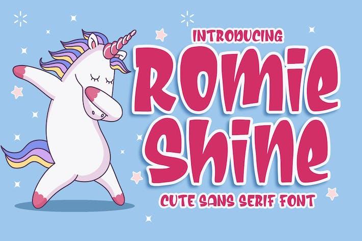 Thumbnail for Romie Shine - a Cute Sans Serif Font