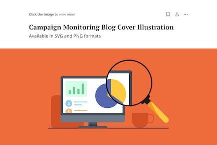 Ilustración de monitoreo de campañas - Portada