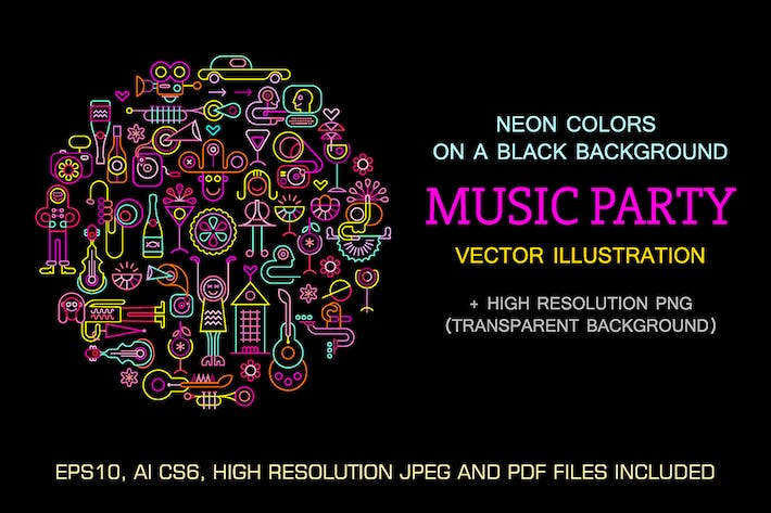 Thumbnail for Celebration Party round shape vector illustration