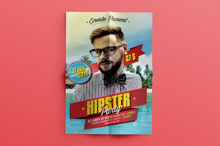 Thumbnail for Hipster Flyer Template