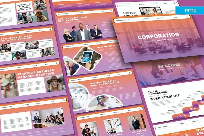 Thumbnail for КОРПОРАЦИЯ — Powerpoint для бизнеса