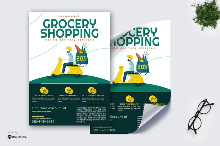 Thumbnail for Grocery Online Delivery vol.01 - Poster GR