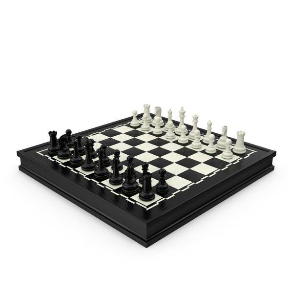 Chess Green Border White