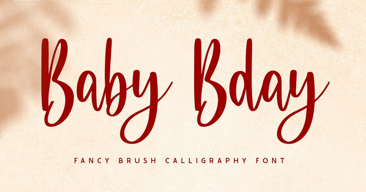 Download Baby Bday - Cute Brush Calligraphy Font by yipianesia