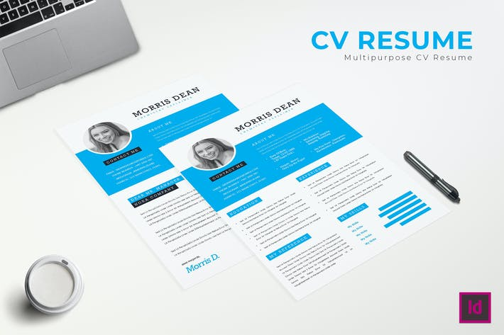 Thumbnail for Great CV Resume Template