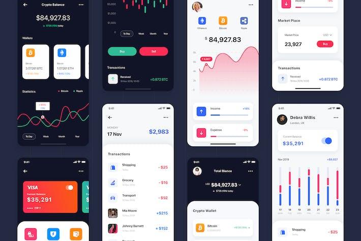 Thumbnail for Curium - Financial UI Kit_ADOBE XD