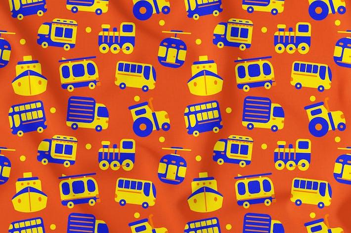 Transportation Seamless Pattern Vol. 1