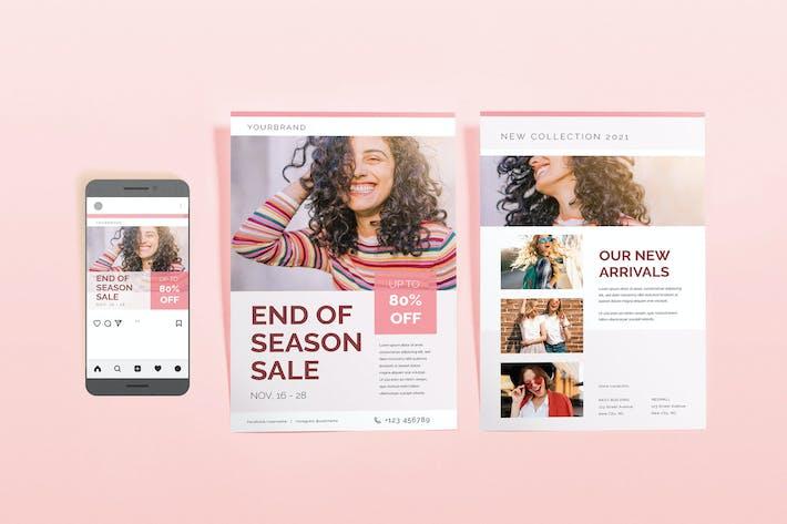 Thumbnail for Simple Fashion Sale Template Set