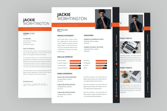 Thumbnail for Jackie Graphic Resume Designer