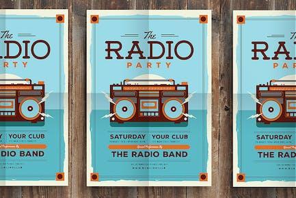 Vintage Radio Party Flyer