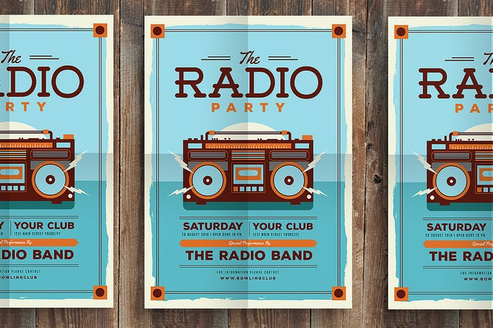 Thumbnail for Vintage Radio Party Flyer