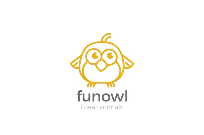 Cover Image For Logo Owl Funny abstract Linear style