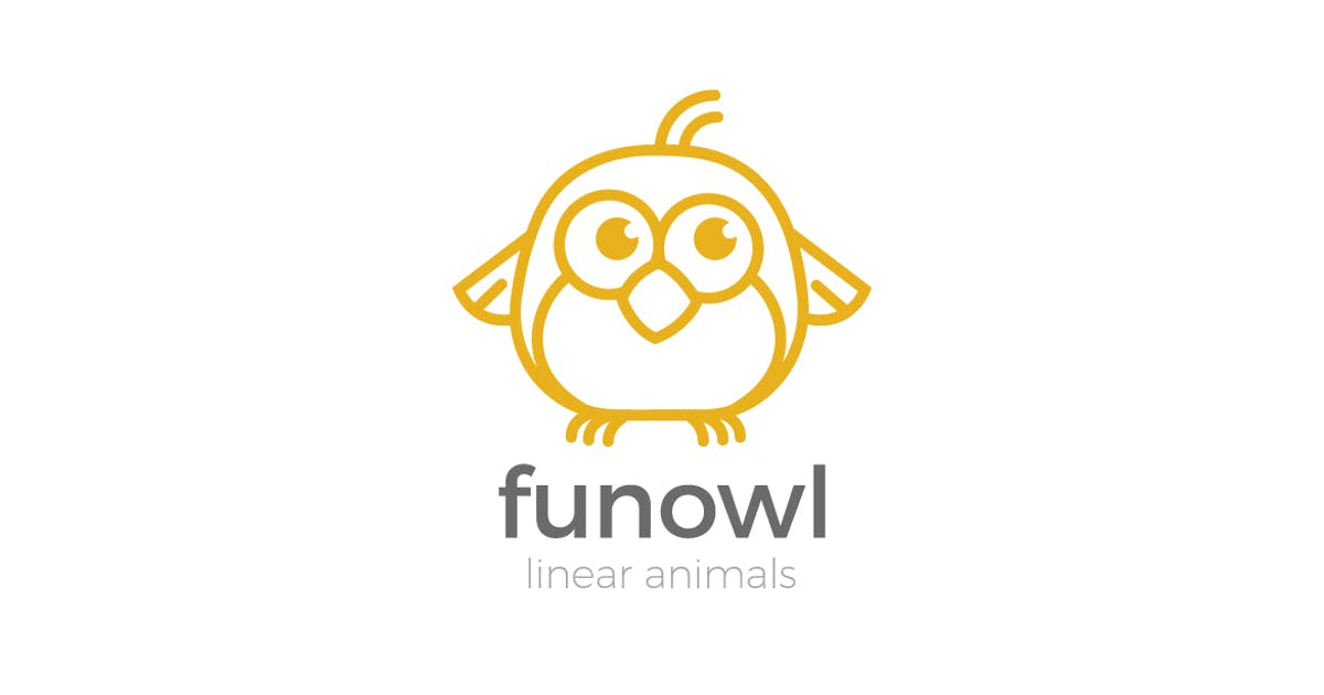 Download Logo Owl Funny abstract Linear style by Sentavio