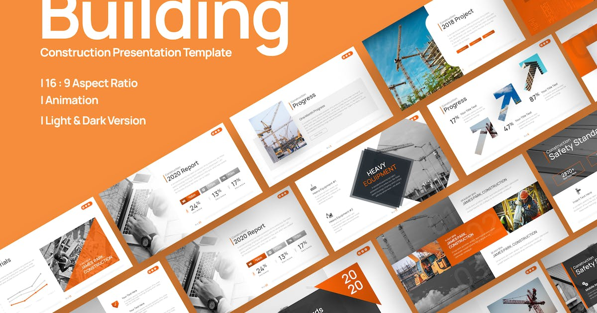 Download Building Construction Presentation Template by BrandEarth