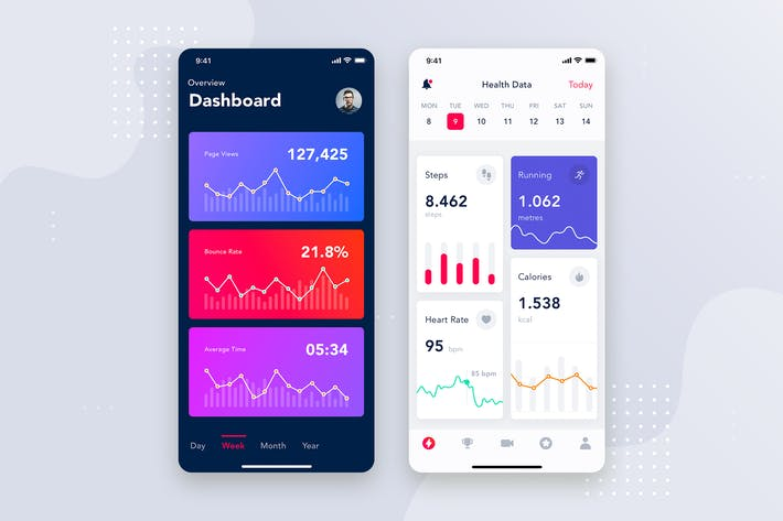 Thumbnail for Analytics dashboard mobile interface concept