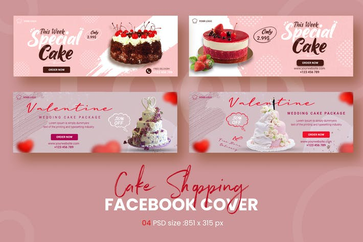 Cake Shopping Facebook Timeline Covers