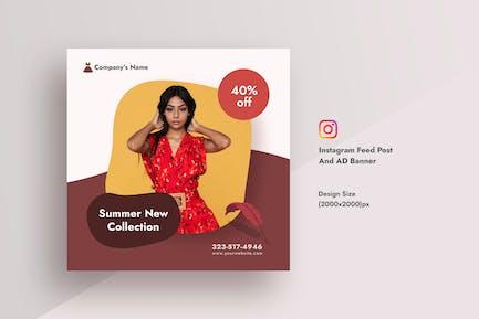 Sommerkleid Werbeartikel Instagram bieten AD Banner