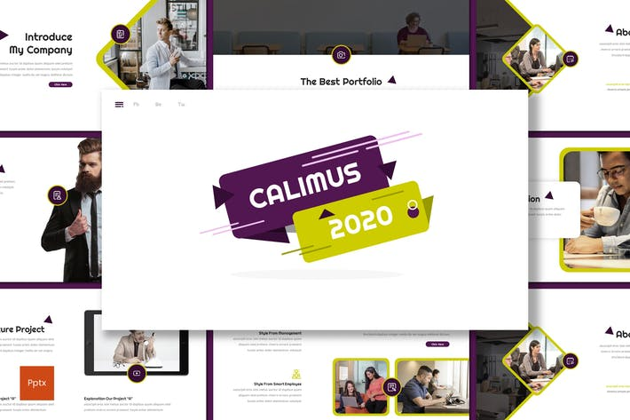 Thumbnail for Calimus - Multipurpose Powerpoint Template