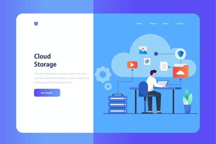 Thumbnail for Cloud Storage Onboarding Illustration