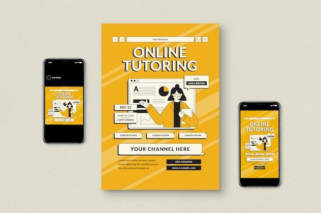 Online Tutor Flyer Set