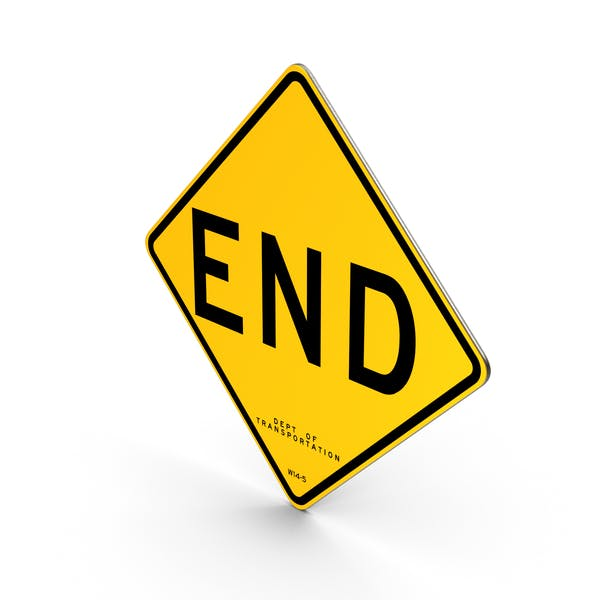 End New York Road Sign
