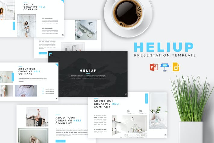 Cover Image For HELIUP - Creative Powerpoint/Google Slide/Keynote