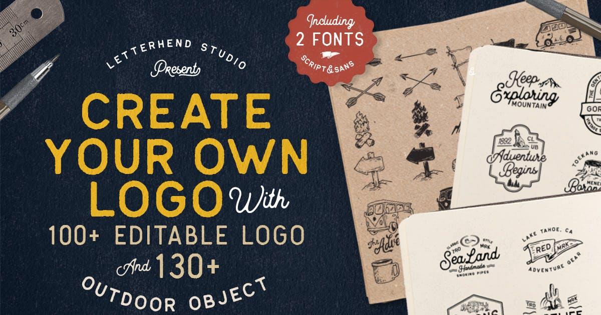 Download OUTDOOR Logo Creator (Bonus 2 Fonts) by letterhend